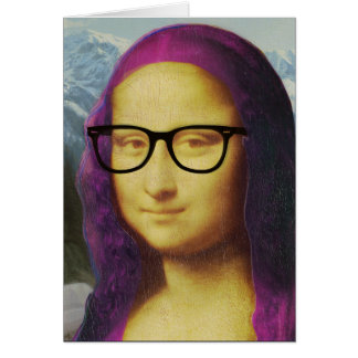 Hipster Mona Card