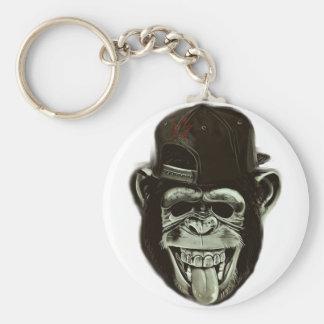 Hipster Monkey Keychain