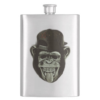 Hipster Monkey Style Hip Flask