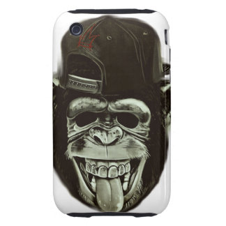 Hipster Monkey Style iPhone 3 Tough Covers