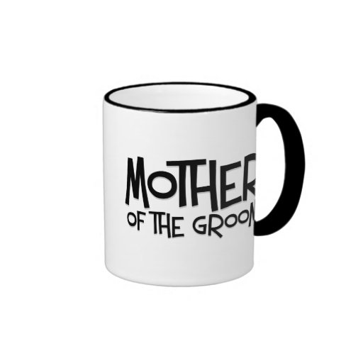 Hipster Mother of the Groom Ringer Coffee Mug
