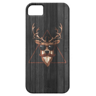 Hipster Moustache Deer - Dark Edition iPhone 5 Covers
