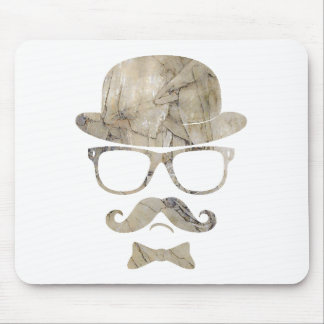 hipster moustache derby glasses 3 mouse pad