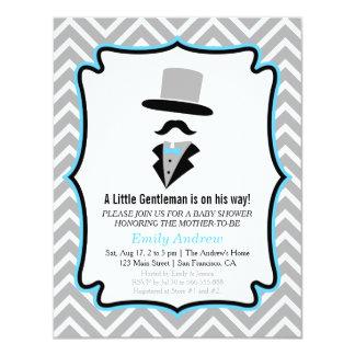 Hipster Moustache Gentleman Baby Boy Shower Card