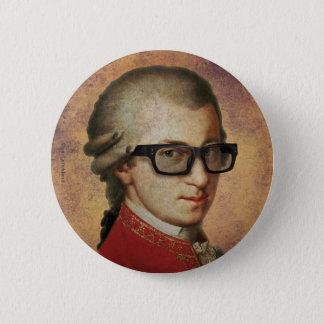 Hipster Mozart 2 Inch Round Button