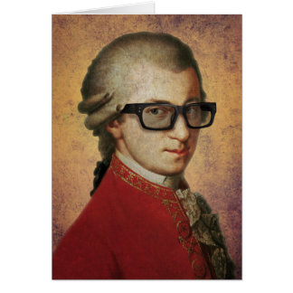 Hipster Mozart Funny Greeting Card