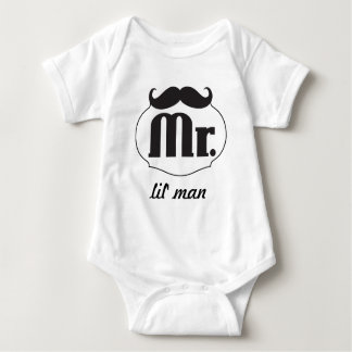 Hipster Mr Lil' Man Baby Baby Bodysuit
