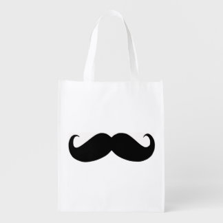 Hipster Mustache Reusable Bag Reusable Grocery Bags