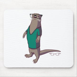 Hipster Otter Mousepad (without text)