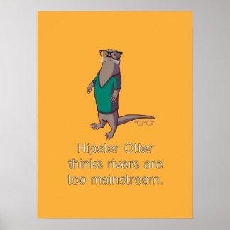 Hipster Otter Poster