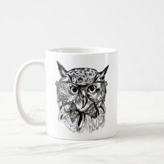 Hipster owl coffee mug