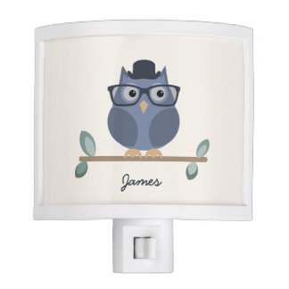Hipster Owl Night Lamp Nite Lite