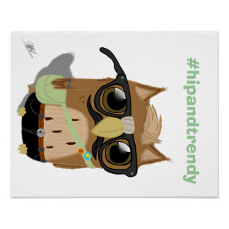 Hipster Owl Posters