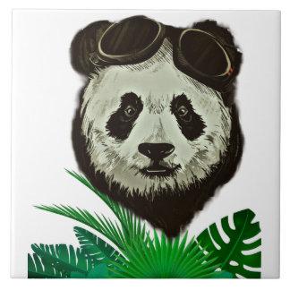 Hipster Panda Bear Animal Ceramic Tiles
