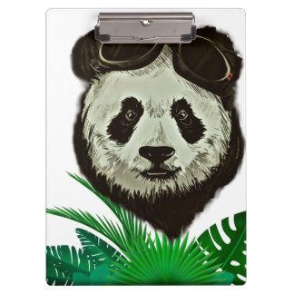 Hipster Panda Bear Animal Clipboard