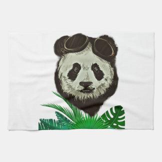Hipster Panda Bear Animal Kitchen Towel