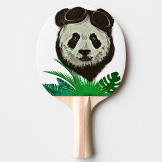 Hipster Panda Bear Animal Ping Pong Paddle