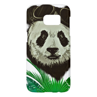 Hipster Panda Bear Animal Samsung Galaxy S7 Case