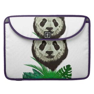Hipster Panda Bear Animal Sleeve For MacBook Pro