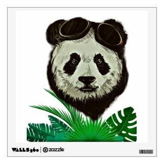 Hipster Panda Bear Animal Wall Sticker