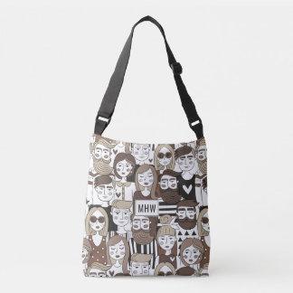 Hipster Pattern custom monogram bags