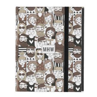 Hipster Pattern custom monogram device cases