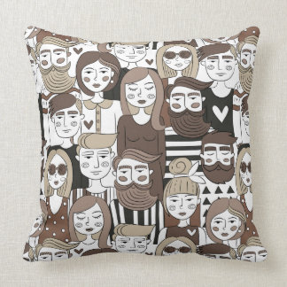 Hipster Pattern throw pillows