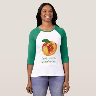 Hipster Peach, Love And Understanding! T-Shirt