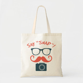 Hipster Photographer Say Snap Budget Tote Bag
