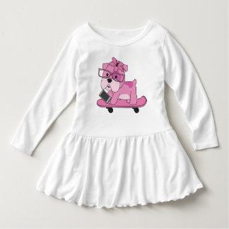 Hipster Pink Bulldog Dress