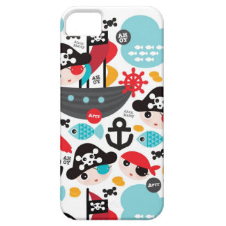 Hipster pirates illustration pattern case iPhone 5 cover