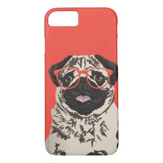 Hipster Pug Phone Case