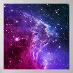 Hipster Purple Ombre Monkey Head Nebula