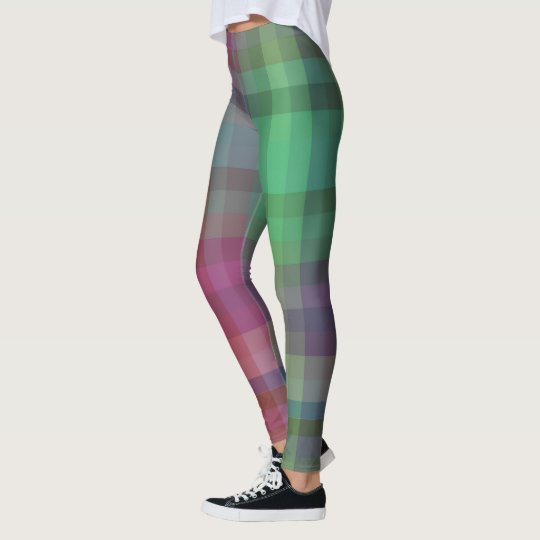 Hipster rad leggings tartan chequered yoga pants