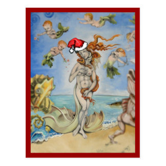 Hipster Re-Birth of Venus Postcard