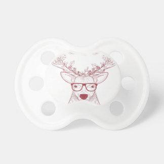 Hipster reindeer pacifier
