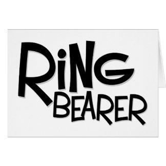 Hipster Ring Bearer Cards