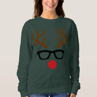 Hipster Rudolph Reindeer Sweatshirt