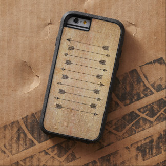 Hipster rustic linen arrows tough xtreme iPhone 6 case