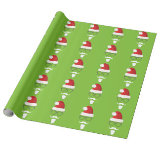 Hipster Santa Claus Wrapping Paper