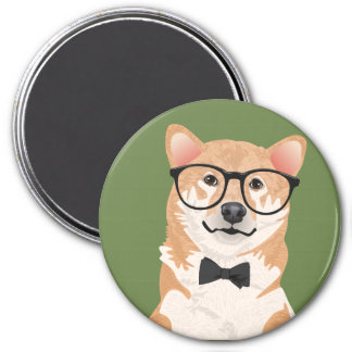 Hipster Shiba Inu Magnet