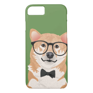 Hipster Shiba Inu Phone Case