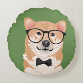 Hipster Shiba Inu Pillow