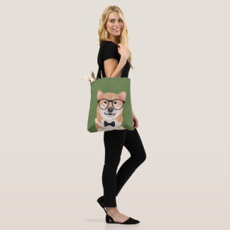 Hipster Shiba Inu Tote Bag for Dog Lovers