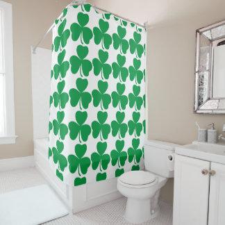 Hipster Shower Curtain Shamrock Retro Print