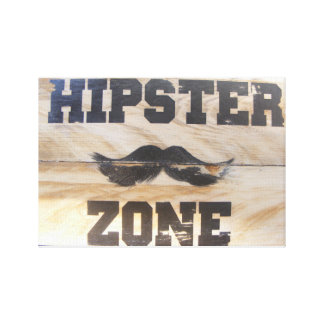 Hipster sign! canvas print
