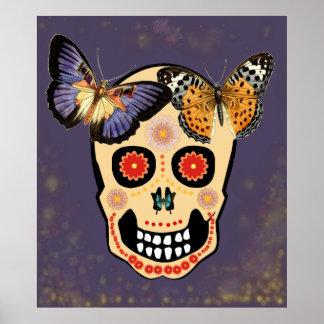 Hipster Skull Poster