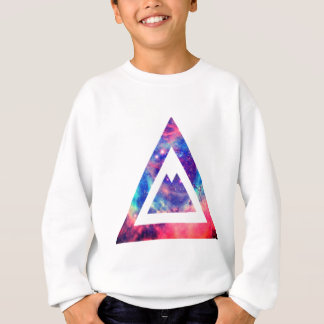 Hipster space triangle sweatshirt