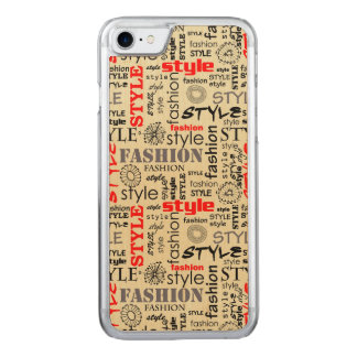 Hipster Style Carved iPhone 8/7 Case