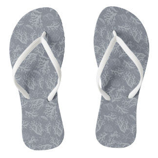 Hipster Style Coral Reef Flip Flops
